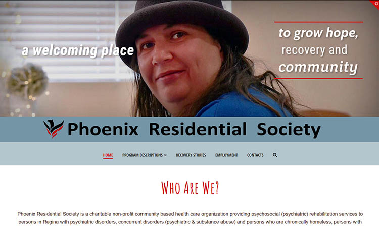 Phoenix Residential Society, screenshot website edition 2019