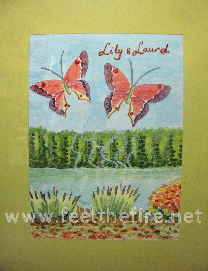 Lily & Laurel butterflies