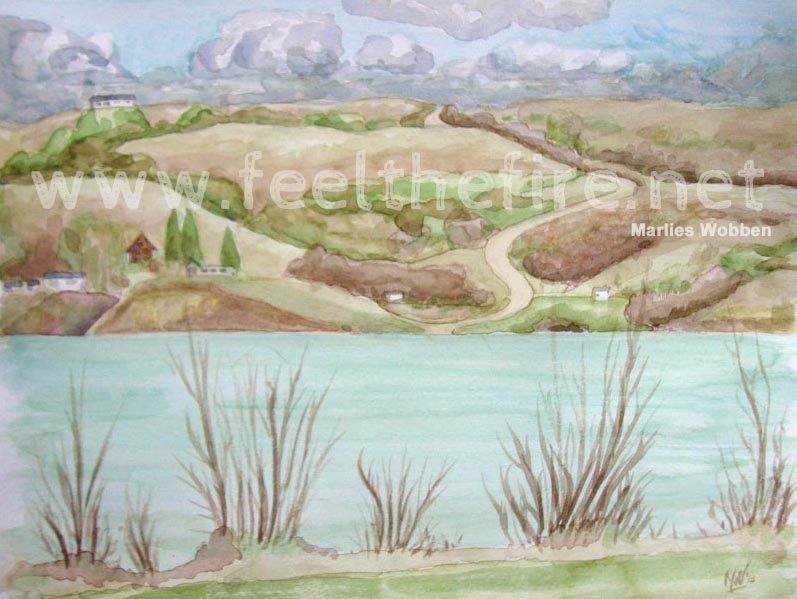 Valley View water colour