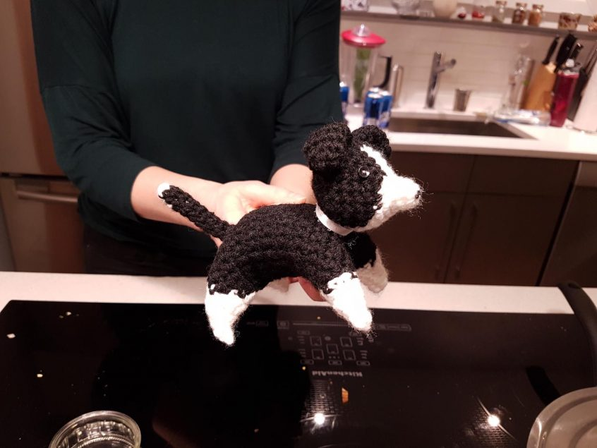 Crocheted Border Collie