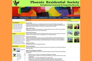 Phoenix Residential Society, screenshot website edition 2014