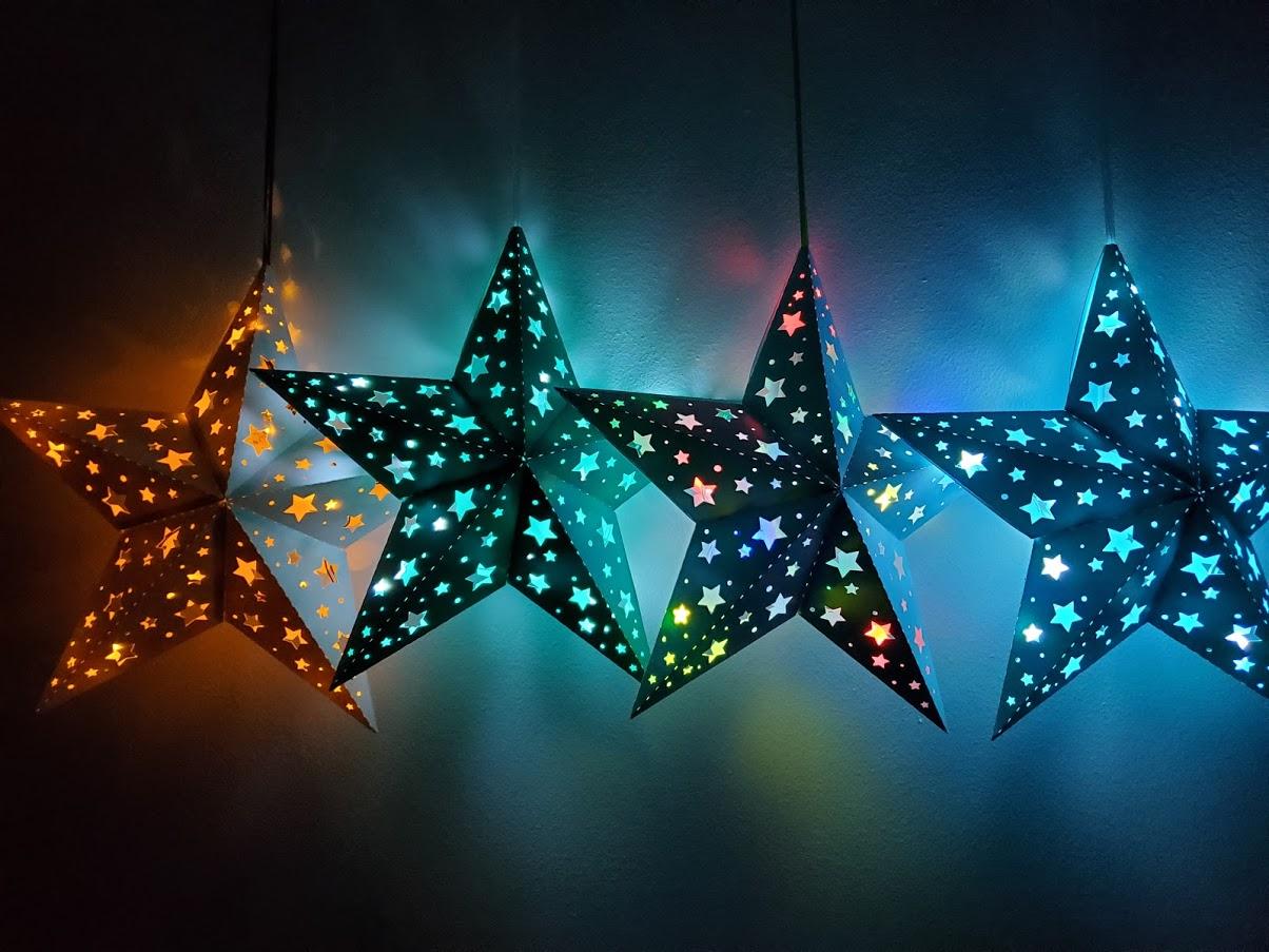 star lanterns with LED lights