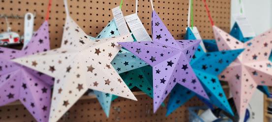star lanterns are also pretty in daylight!