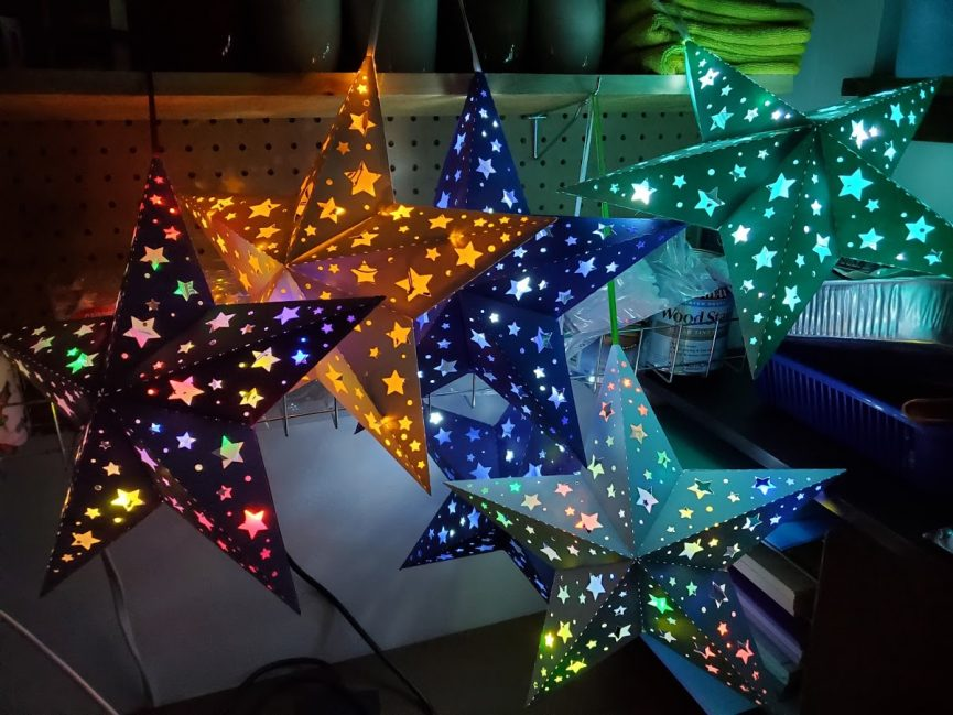star lanterns with LED lights