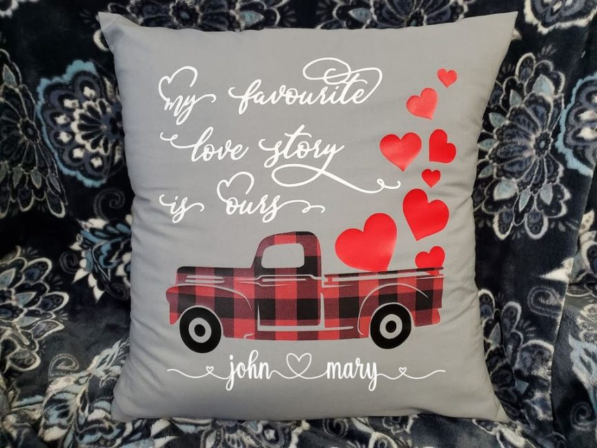 Valentine's Day personalized pillow