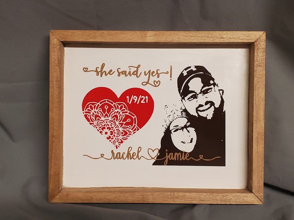 personalized engagement sign