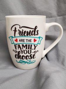 vinyl on a mug