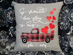 grey valentine's pillow