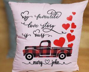 pink valentine's pillow